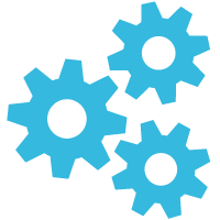 Gear Wheel Blue